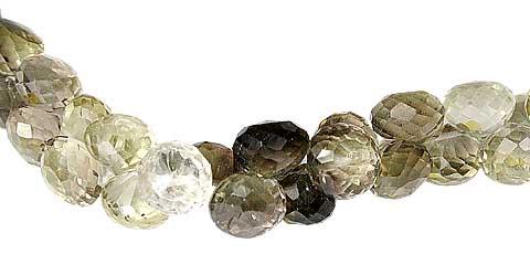 Design 11787: brown,yellow lemon quartz briolettes beads