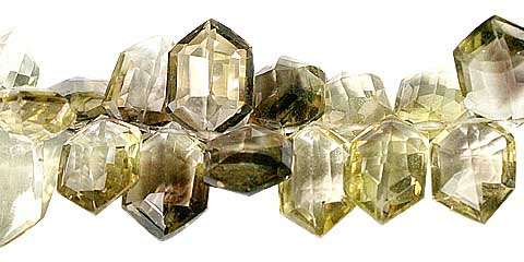 Design 11788: brown,yellow lemon quartz faceted beads