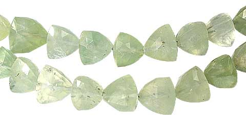 Design 11792: green prehnite faceted beads