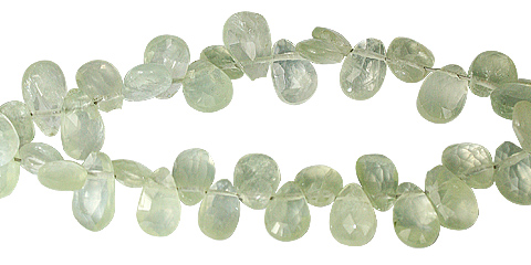 Design 11794: green prehnite faceted beads