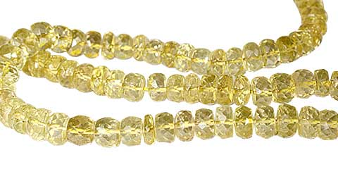 Design 11805: yellow lemon quartz faceted beads