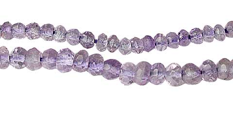 Design 11806: purple amethyst faceted beads