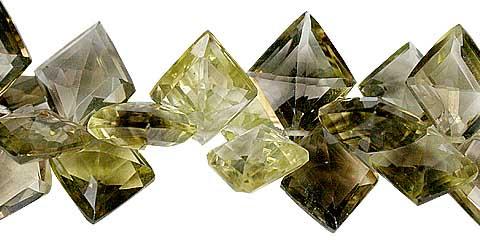 Design 11808: brown,yellow lemon quartz faceted beads