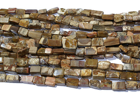 Design 11824: brown wood rectangular beads