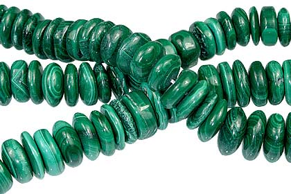 Design 12753: green malachite beads