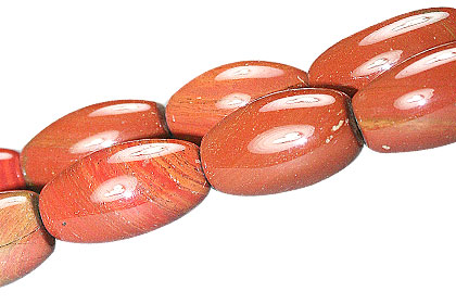 Design 13354: red jasper canoe beads
