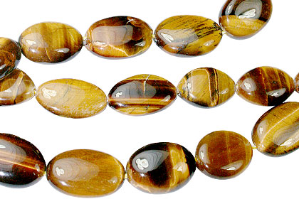 Design 13367: brown,yellow tiger eye oval beads