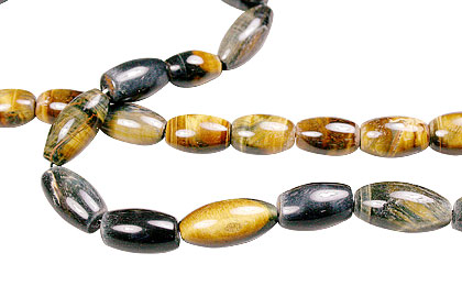 Design 13374: brown,yellow tiger eye canoe beads