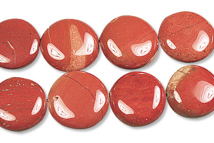 Design 13377: red jasper coin beads