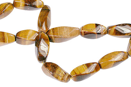 Design 13382: brown,yellow tiger eye tube beads