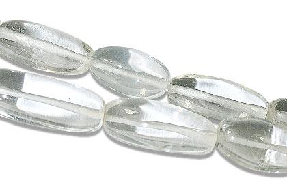 Design 13387: white crystal canoe beads