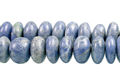 Design 13404: blue,white sodalite rondelle beads