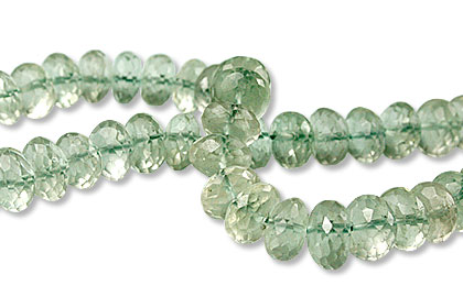 Design 13430: green amethyst faceted beads