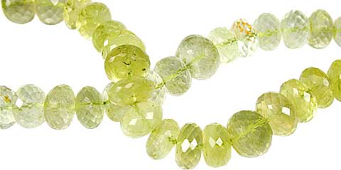 Design 13431: green,yellow lemon quartz faceted beads