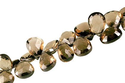 Design 13650: brown,yellow smoky quartz briolettes beads
