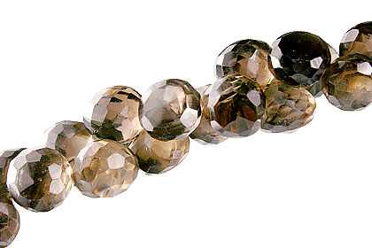 Design 13653: brown smoky quartz briolettes beads