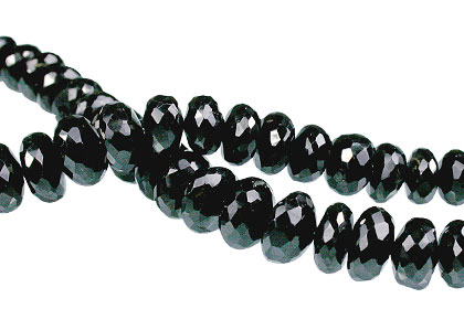 Design 13752: black black spinel faceted beads