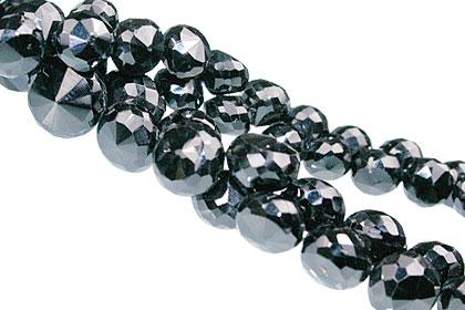 Design 13755: black black spinel briolettes beads