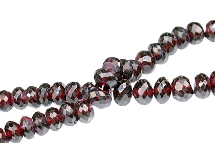 Design 13756: red garnet faceted beads