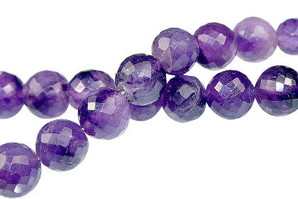Design 13761: purple amethyst faceted, round beads