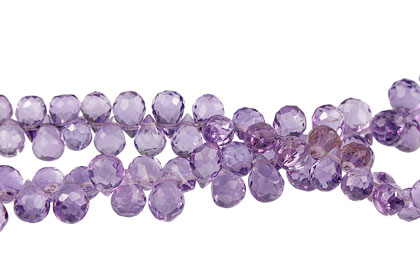 Design 13762: purple amethyst briolettes, faceted beads