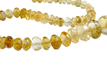 Design 13957: yellow citrine faceted, rondelle beads