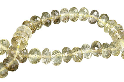 Design 15012: brown,yellow lemon quartz faceted beads
