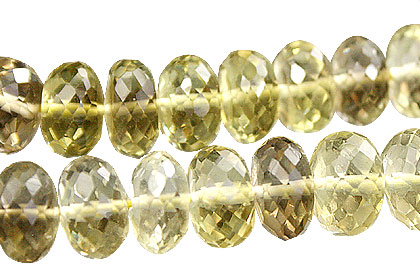 Design 15013: yellow lemon quartz faceted beads