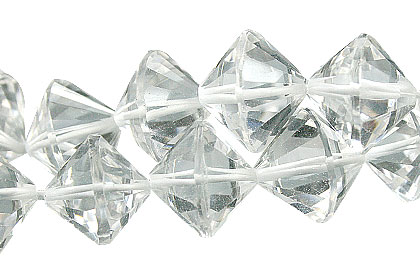 Design 15014: white crystal bicone beads