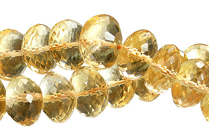 Design 15015: brown citrine faceted beads