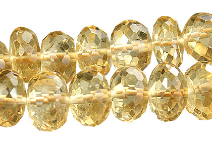 Design 15016: yellow citrine faceted beads
