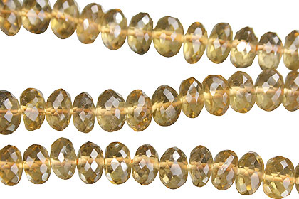 Design 15017: yellow citrine faceted beads