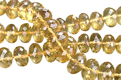Design 15020: yellow citrine faceted beads