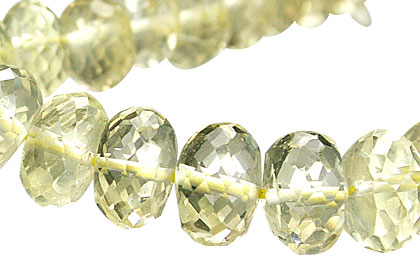 Design 15023: yellow lemon quartz faceted beads