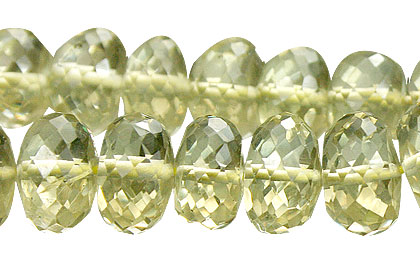Design 15025: yellow lemon quartz faceted beads