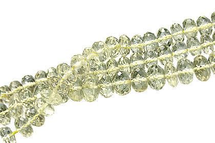 Design 15027: yellow lemon quartz beads