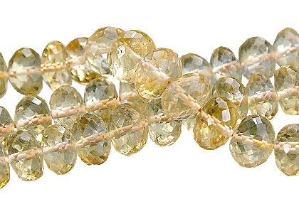Design 15396: yellow citrine rondelle beads