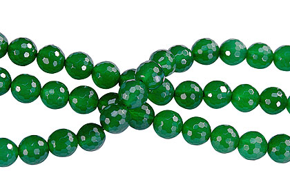 Design 16273: green bulk lots faceted beads