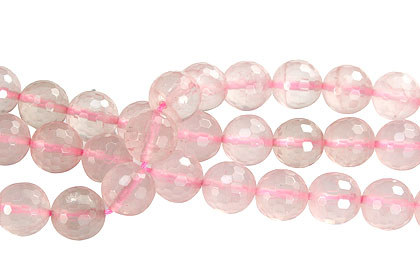 Design 16275: pink rose quartz faceted beads