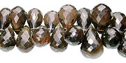 Design 13964: brown smoky quartz faceted beads