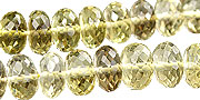Design 15013: brown,yellow lemon quartz faceted beads