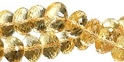 Design 15015: yellow citrine faceted beads