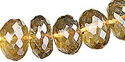 Design 15019: yellow citrine faceted beads