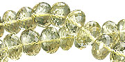 Design 15022: yellow lemon quartz faceted beads