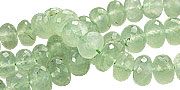 Design 15028: green prehnite faceted beads