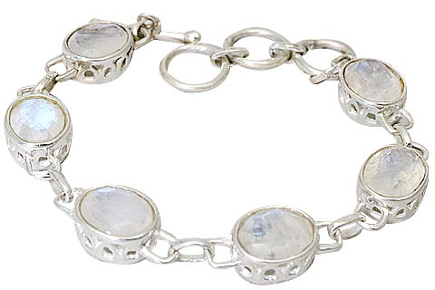 Design 10046: white moonstone bracelets
