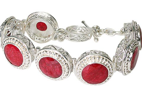 Design 10094: red ruby bracelets