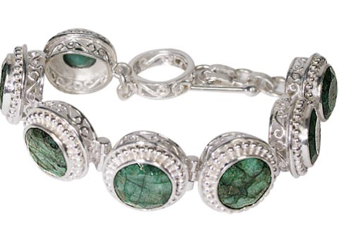 Design 10096: green emerald bracelets