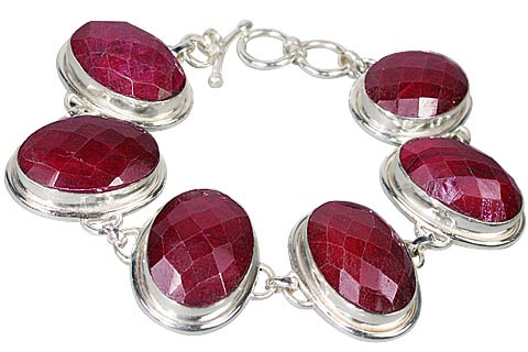 Design 10097: red ruby art-deco bracelets