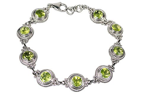 Design 10100: green peridot brides-maids bracelets